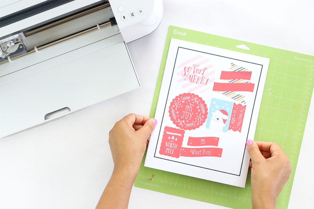 Print Then Cut Holiday Cards with Cricut and Canon | damask love