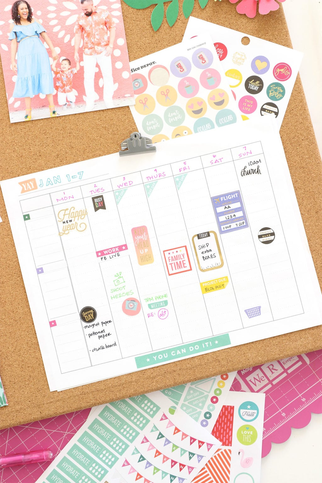 Print Your Own Wall Calendar | damask love