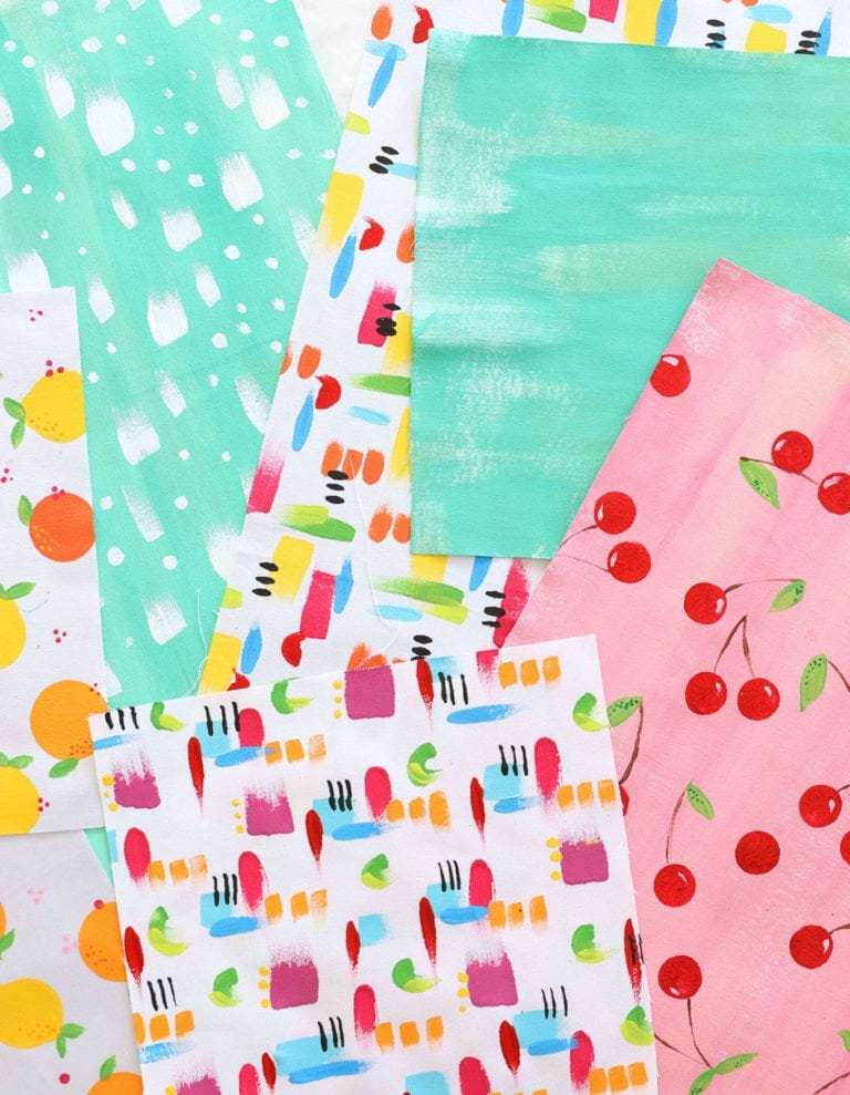 How to Paint Your Own Patterned Fabric