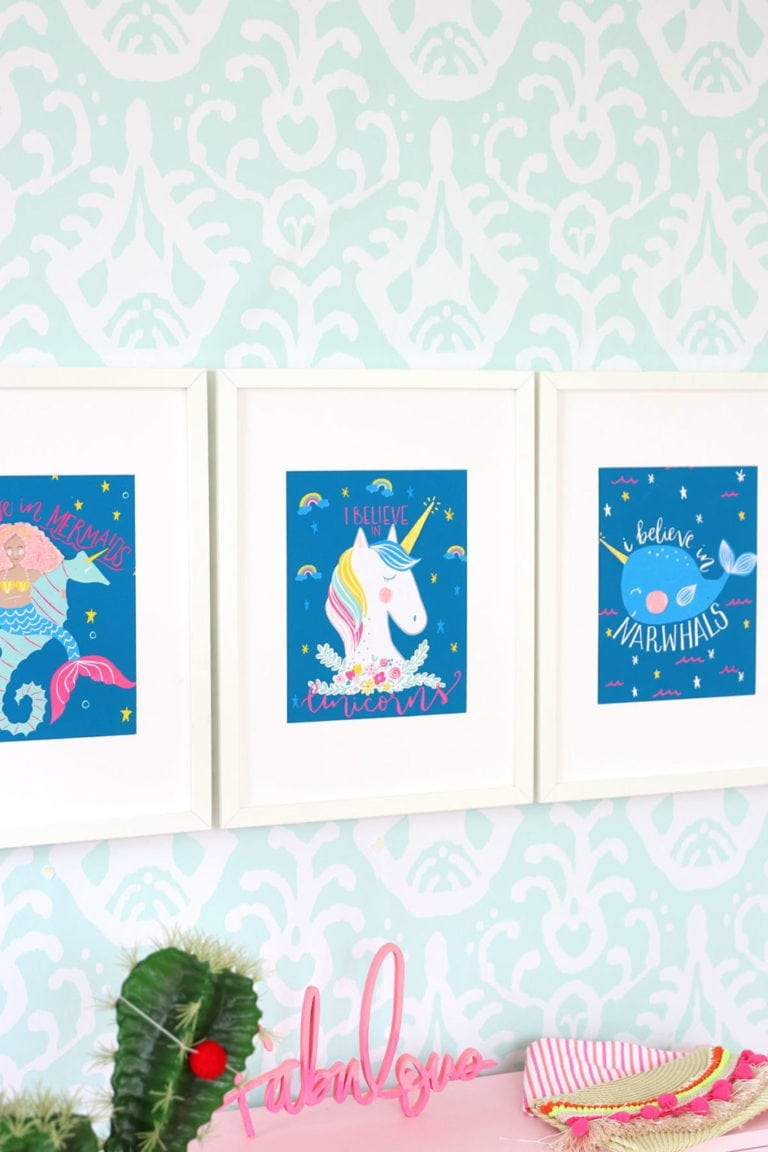 Printable Unicorn Wall Art with Canon