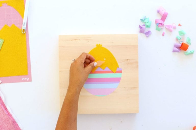 How to Make Striped Vinyl Easter Eggs