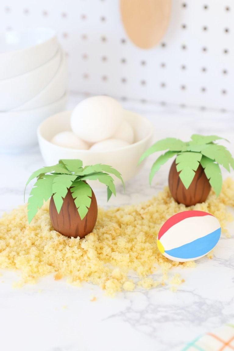 DIY Palm Tree Easter Eggs for Food Network Magazine