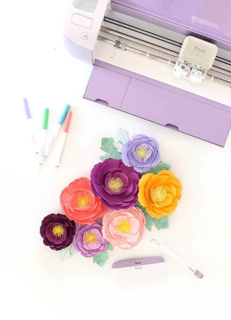 Perfect Paper Flowers with Cricut Wisteria