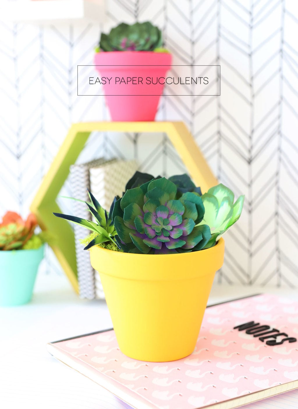 How to Make Realistic Paper Succulents with Cricut | damask love