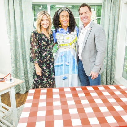 Home and Family – Painted Gingham Table