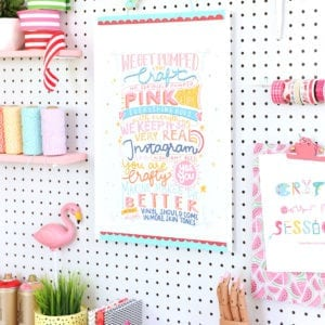Damask Love Manifesto + How to Make a Poster Hanger | damask love