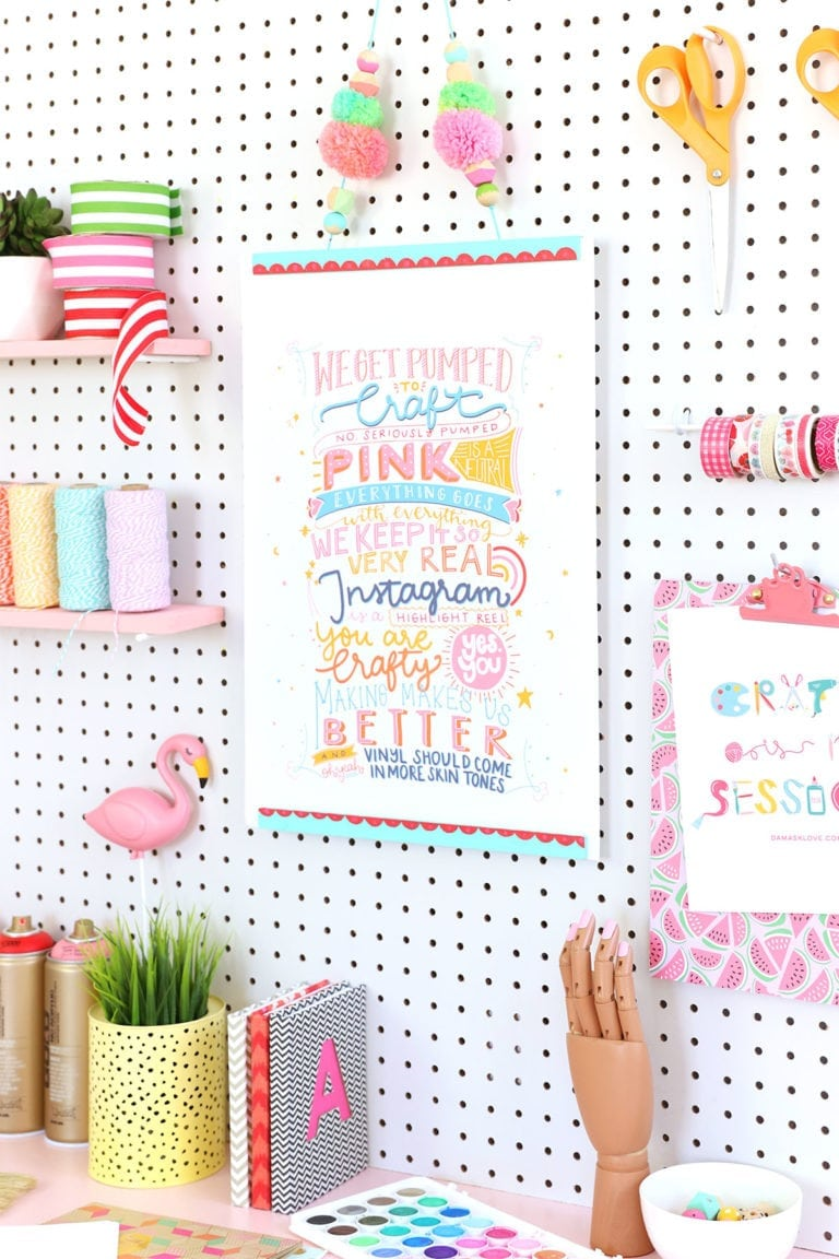 The Damask Love Manifesto + How to Make a Poster Hanger