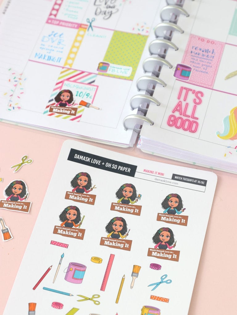 Printable Planner Stickers for NBC Making It