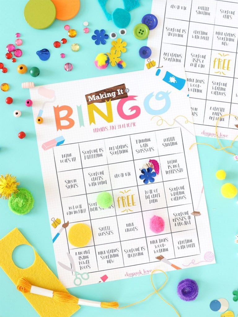 Printable BINGO for NBC Making It