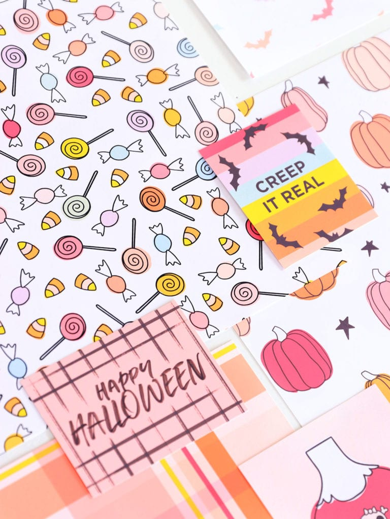 Free Printable Halloween Cardstock with Canon