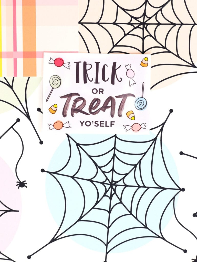 Free Printable Halloween Cardstock with Canon | damask love