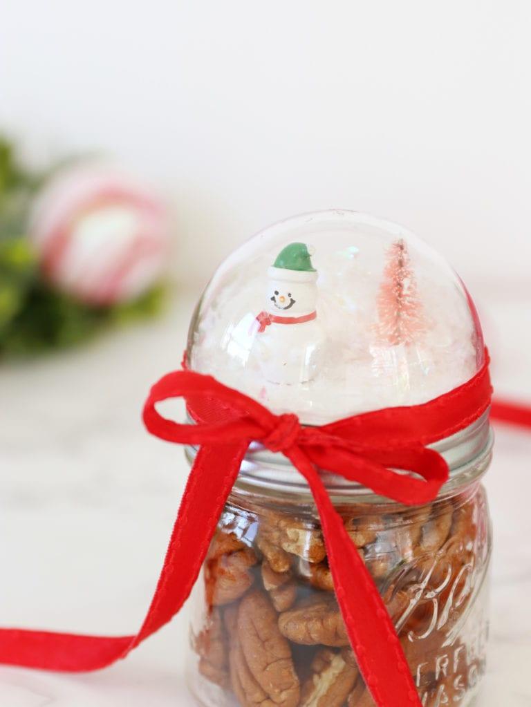 How to Make a Pecan Snow Globe Jar Topper