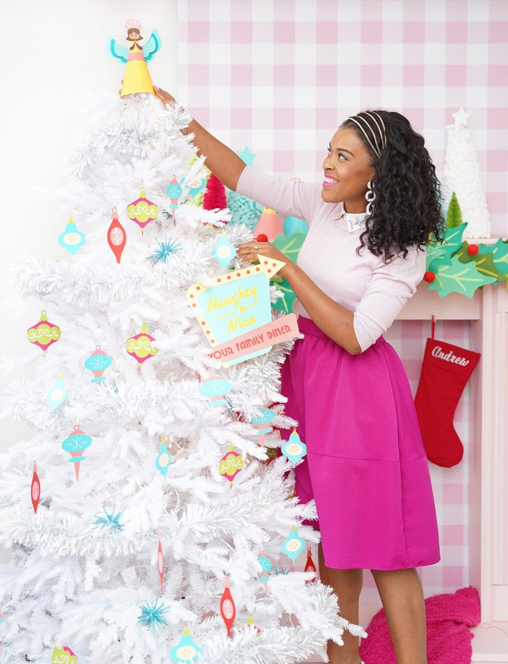 Retro Christmas with Cricut | damask love