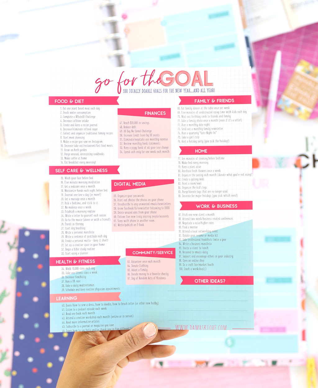100 Doable Goals for the New Year | Damask Love
