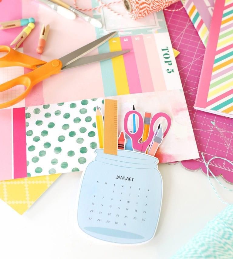 Printable Mason Jar Calendar