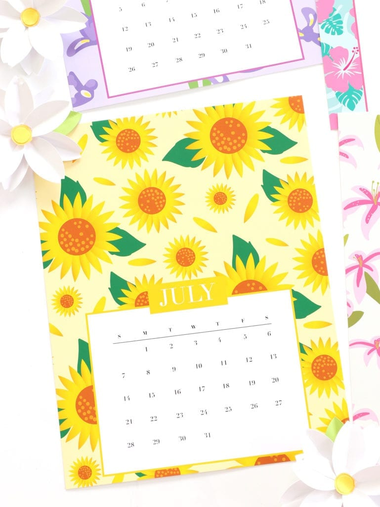 Free Printable Floral Calendar | damask love