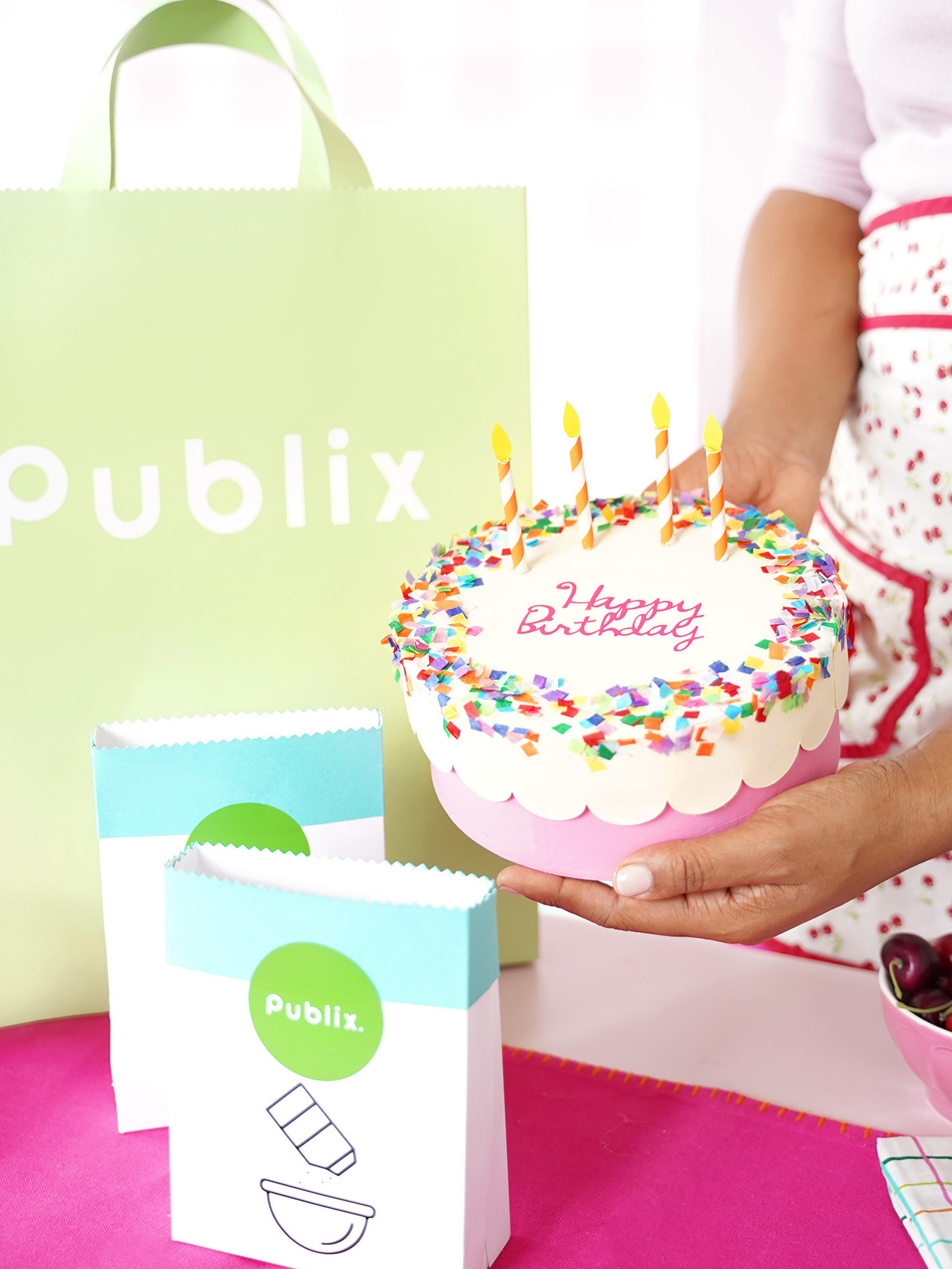 Awesome A Diy Birthday Celebration With Publix Damask Love Personalised Birthday Cards Veneteletsinfo