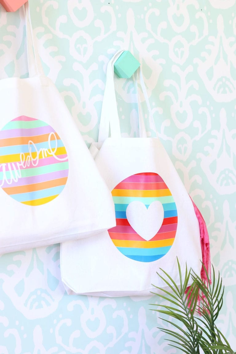 How To Create a Striped Iron-On Vinyl Tote Bag
