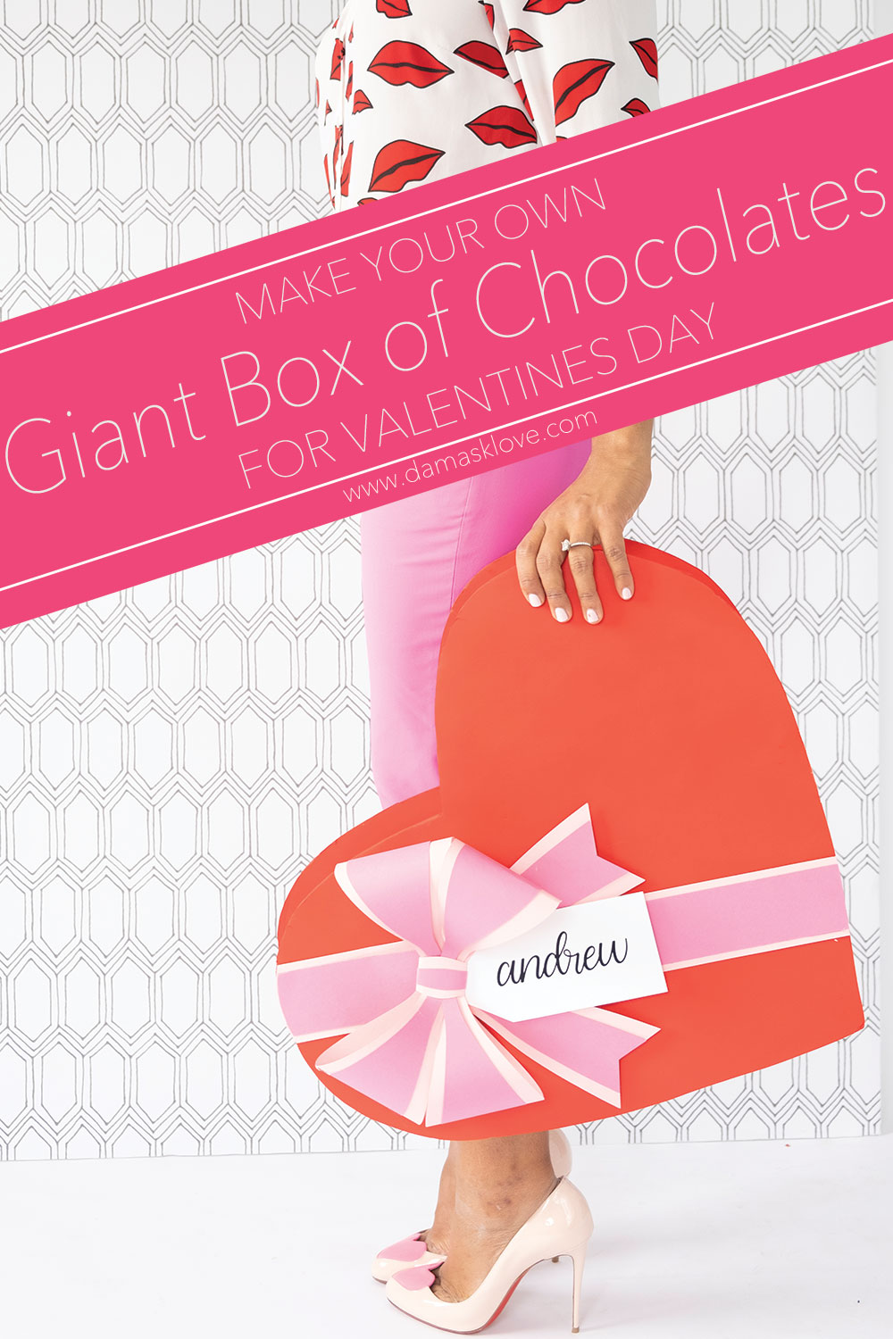 How To Make A Giant Box Of Chocolates For Valentine S Day Damask Love