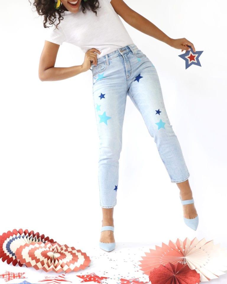 Patriotic Painted DIY Jeans