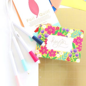 Create your own foiled floral stationery with the Foil Quill Freestyle Pen
