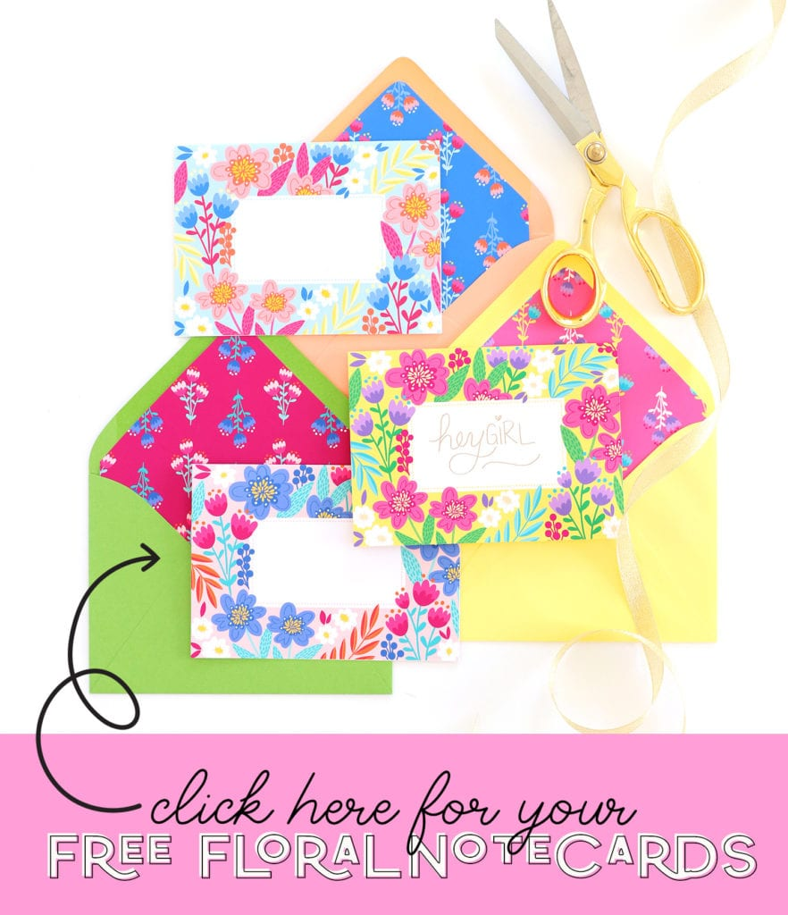 Print your free floral notecards that can be customized with the Foil Quill Freestyle Pen
